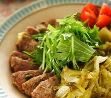 豚バラキャベツの和風カレー煮