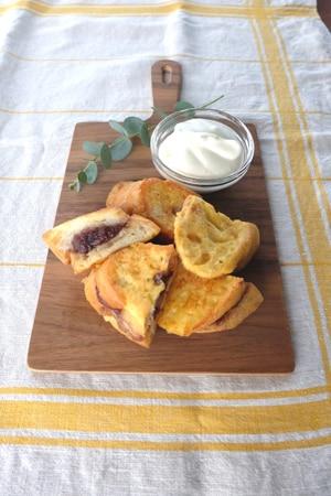 あんバナナ豆乳フレンチトースト