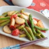 【PR】これはウマい!アスパラガスと長芋トマトのさっぱり炒め
