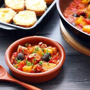 【PR】 おうちでバル風♪「タコとジャガイモのパプリカ煮」