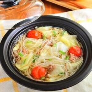 レンジでチン!で大満足のうま塩春雨スープ