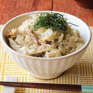 さば缶で簡単に!さばとまいたけの炊き込み玄米ごはん