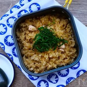 簡単キャンプ飯!玄米とたらこの炊き込みご飯