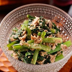 レンチンでパパッと!小松菜のやみつき副菜「こまツナサラダ」