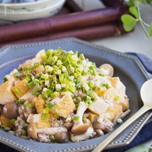 「京風割烹 白だし」×厚揚げで和風麻婆豆腐