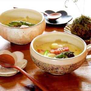 ホッとする美味しさ!佐賀県産アスパラとベーコンのミルクスープ