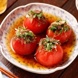 暑い夏にうれしい!冷やしていただく「トマトの丸ごとだしびたし」