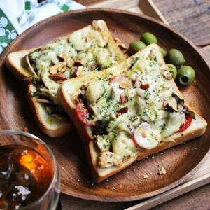 【PR】忙しい朝にもおすすめ!きのこと鮭缶の大葉チーズトースト