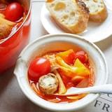 バジルが香る!チーズミートボールのトマト鍋