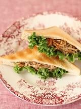 きんぴらごぼうのピタパン風トースト