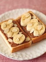 バナナとチョコのオープンサンド