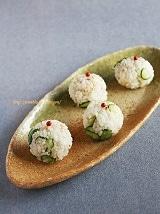 アンチョビと塩揉み胡瓜のおむすび