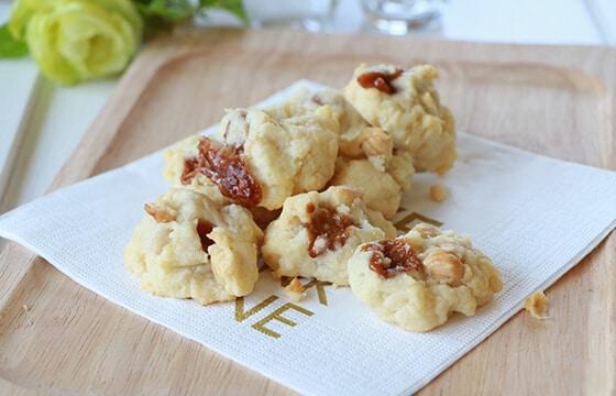 ヘーゼルナッツとクリームチーズのキャラメルパイ