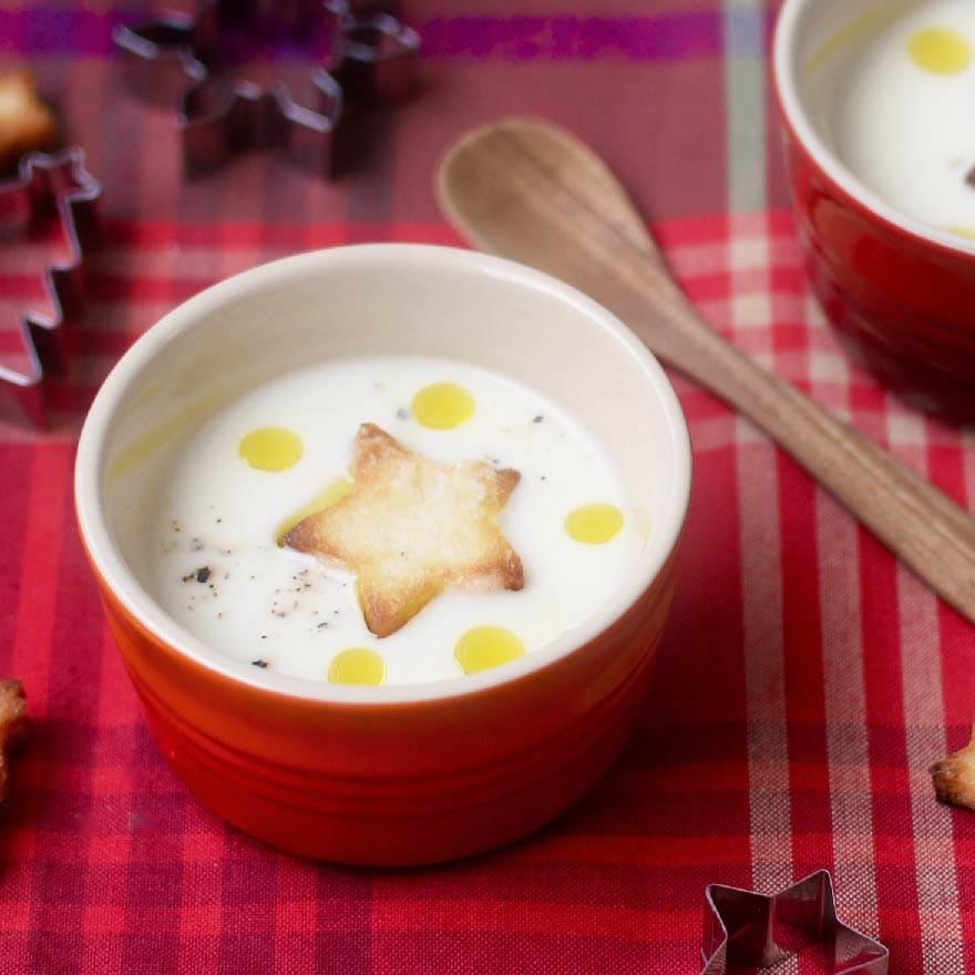 炒めることで甘さ引き立つかぶのポタージュスープ