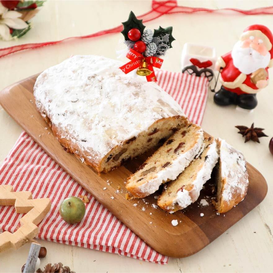 ホットケーキミックスで作れるクリスマス定番お菓子、シュトーレン