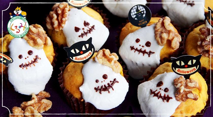 ハロウィン気分が盛り上がる♪キュートなくるみとかぼちゃのおばけマフィン