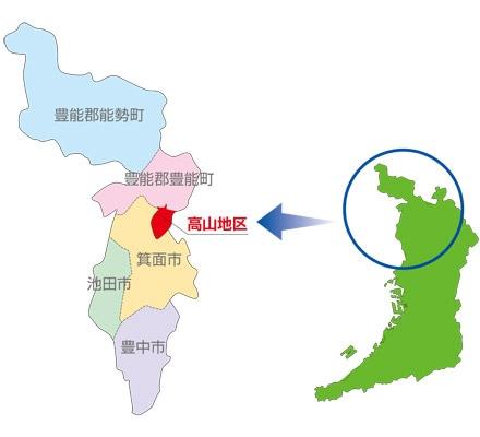 大阪北部の地図