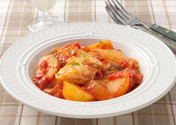 たらとじゃがいものトマト煮