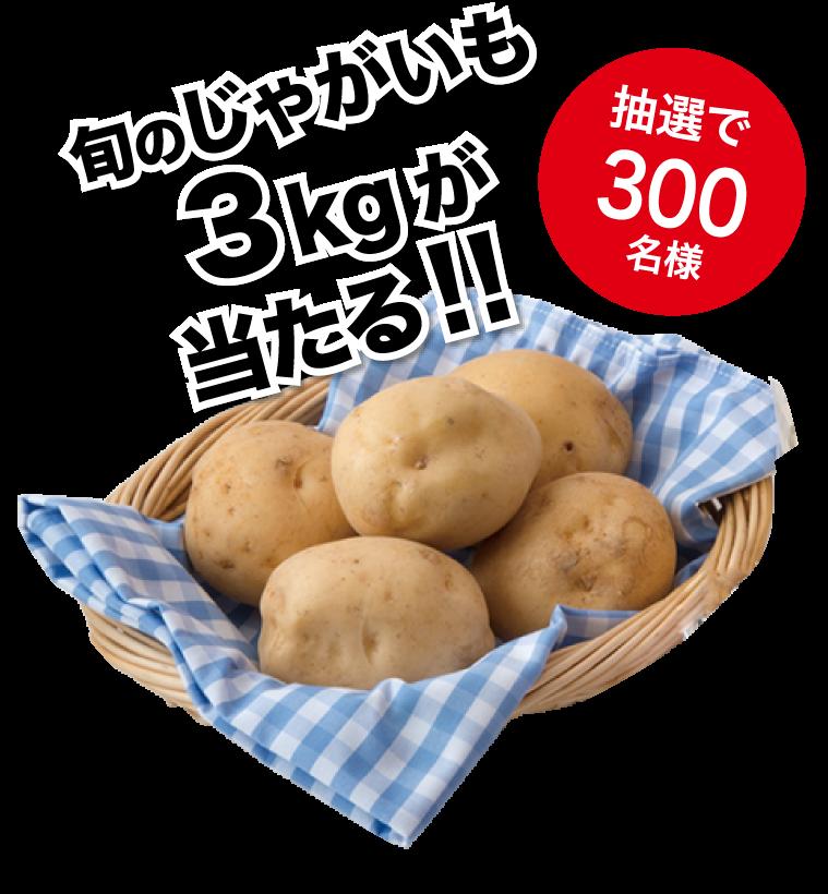 抽選で300名様に旬のじゃがいも3kgが当たる!!