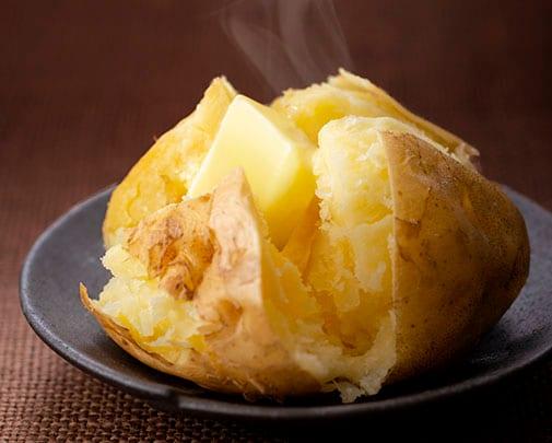 レンジでじゃがバター