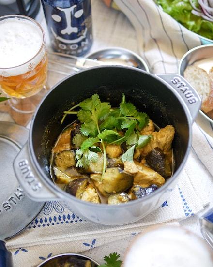 スパイシー♪ナスと鶏肉のエスニックタンドリー焼き