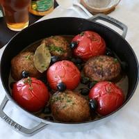 野菜のおいしさたっぷり!トマト煮込みハンバーグ