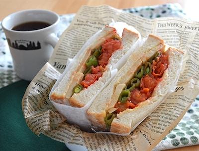 彩りばっちり!おしゃれサンドイッチに!