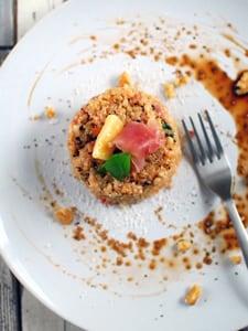 玄米とトマトの焼きリゾット。