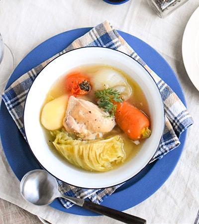 ごろっと野菜のホロホロ和風チキンポトフ