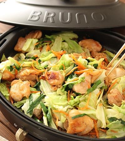 野菜もたっぷり!ホットプレートdeスタミナ鶏ちゃん焼き