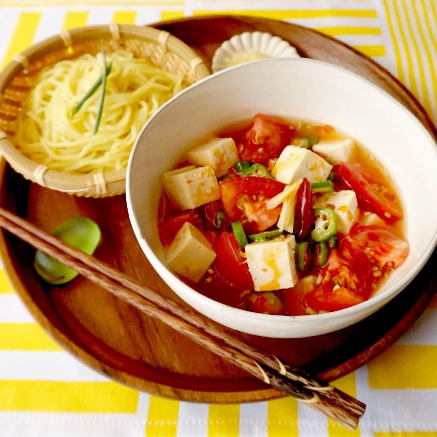 暑い時こそピリ辛で!ひんやり麻婆豆腐つけ麺