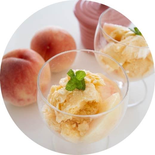 桃の香りがふわっと口の中に広がる!簡単桃のアイスクリーム
