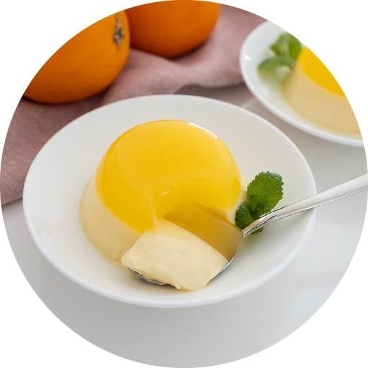 放っておくだけ!?2層に分かれるオレンジムースゼリー