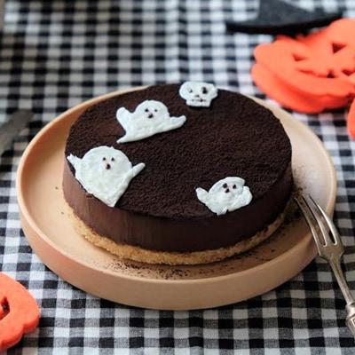 ハロウィン特製チョコレートケーキ!大好きなチョコケーキも豆腐を加えて食べやすく