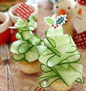 ウィンナーのパイ焼きでクリスマスツリー