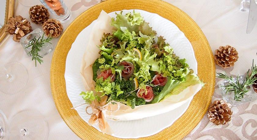 食べられる花束「ブーケサラダ」で華やかなおもてなし