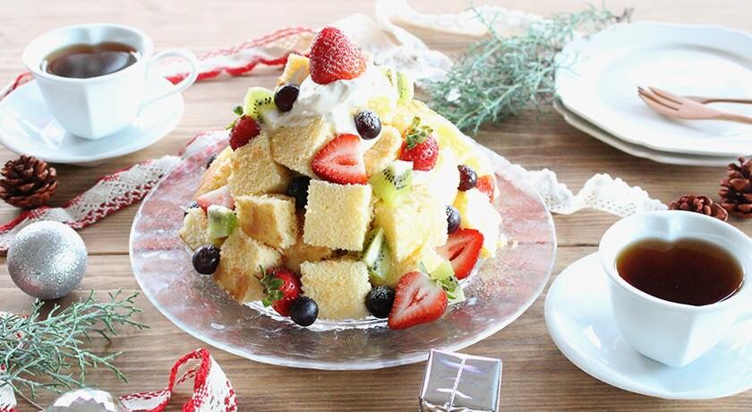 ケーキ型がなくても作れる!重ねるだけの簡単★キレイ「ツリーケーキ」