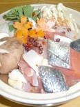 鮭と鶏のピリ辛味噌鍋