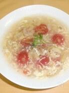 トマトとセロリ、ザーサイの中華スープ