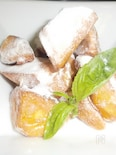 粉雪をかぶったココナッツポテト