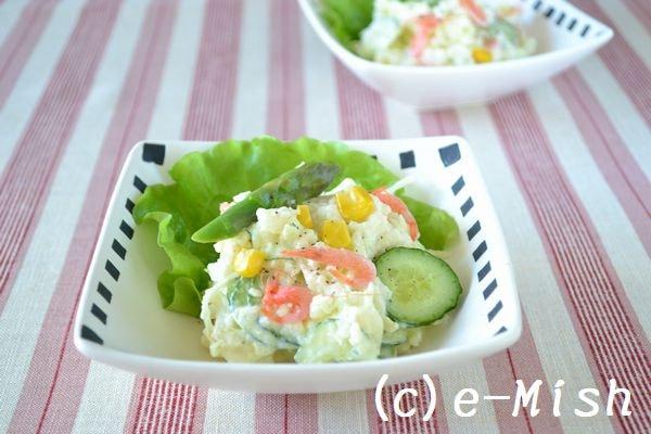 4. 桜えびと春野菜のポテトサラダ