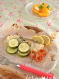 白身魚とズッキーニの蒸し焼き(ローズマリー風味)