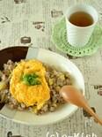 さつま芋ごはんの和風オムライス