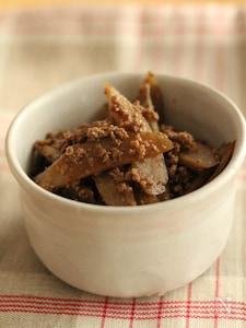 ごぼうとひき肉の炒め煮