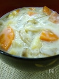 根菜たっぷり♪味噌豆乳汁