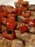 ズッキーニの肉巻きバルサミコソースをかけて❤