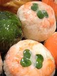カラフルてまり寿司❤