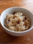 圧力鍋で炊くモっちり美味しい小豆と大豆入り玄米ご飯