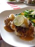 豆腐と蓮根の和風ハンバーグ
