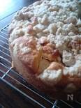りんごのクランブルケーキ
